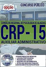 Concurso crp 15ª regiao 2016  auxiliar administrativo