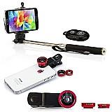 Pau selfie bastao monopod   controle   3 lentes universall