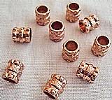 Entremeios,   pacotes com 4 e 11 unidades (rose,   niquel e dourada),   baixo relevos central e extremidades