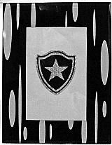 Quadro de mesa,     frente vidro total,     17,    7cm x 21,    7cm,     verso feltro preto,     escudo gravacao holografica