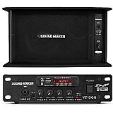 Kit propaganda caixa de som   mixer amplificador