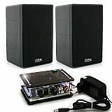 Kit som ambiente amplificador para pc estereo caixa acustica