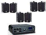 Caixa som amplificada blootooth ambiente amplificador sa10   3 pares de caixa sp400