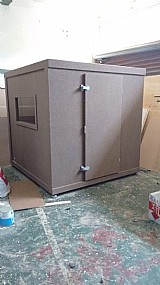 Cabine gravacao m/1, 20x2, 10 m/internas 0, 90x0, 90x2, 00