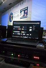 Blackmagic switcher de producao de estudio de tv atem