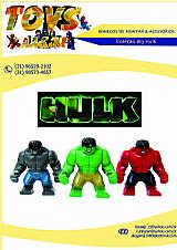 Boneco big hulk de montar (bonecos sao compativeis lego)