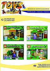Kit minecraft_boneco cenario (boneco compativel com lego)