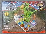 Kit jurassic world_boneco dinossauro cenario (boneco compativel com lego)