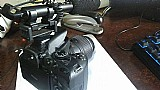 Camera nikon d1000 c/ microfone