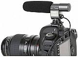 Microfone profissional sg-108 stereo p/camera nikon canon