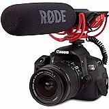 Microfone direcional rode videomic profissional para dslr