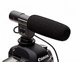 Microfone p/ filmadora camera dslr canon nikon sg 108
