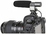 Microfone profissional sg 108 stereo p/ camera nikon