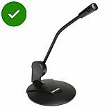 Microfone de mesa para pc com base - melhor e mais barato !