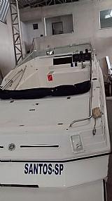 Lancha toda equipada sonar radio marinizado coletes salva vidas gabinada para 3 pessoas dormir bussula motor revisado geral parte eletrica nova rabeta volvo 275 motor 6cc com um carburador bomba de por�o nova bomba de pia nova carreta de rodoencalh