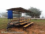 Refeitório móvel para campo (área de vivência)