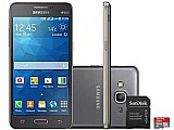 Smartphone samsung galaxy gran prime duos tv 8gb - dual chip 3g cam. 8mp   selfie 5mp   cartao 32gb cartao 32gb