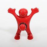 Homem feliz garrafa de vinho rolhas de plastico vermelho bar cozinha ferramentas caber garrafas de vinho em geral