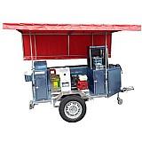 Reboque p/ venda de pastel e caldo de cana motor a gasolina!