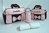 Kit bolsa de bebe maternidade personalizada! 5 pcs c/ brinde