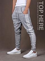 Calca de moleton masculina saruel skinny sport luxo
