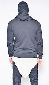 Blusa jaqueta moleton slim fit masculina swag capuz offert