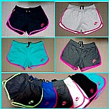 Kit 5 shorts feminino moleton 100% algodao,  hollister,  nike