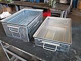 Caixas metalicas novas para sucatas/estocagem e movimentacao