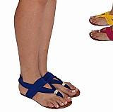 Sandalia feminina rasteira e rasteirinha gladiadora ref 1026