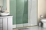 Box de abrir vidro incolor kit branco 1, 90x0, 80m