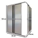 Box de canto acrilico fume kit prata 1, 85x0, 80x0, 80m