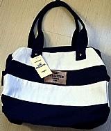 Bolsa mala de bordo hollister ziper cores original  etiqueta
