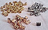 Terminais ovalados vazados 2 tamanhos,    niquel,    dourado,    rose e ouro velho com verniz,     144 unidades,    ver texto
