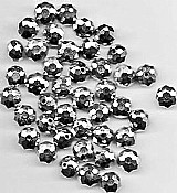201 contas cristais prata facetados achatados,   tamanhos texto