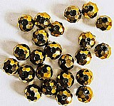 179 contas cristais dourados facetados achatados,   tamanhos texto