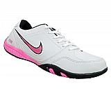 Tenis feminino air fit branco e rosa