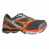 Tenis mizuno wave creation 17 grafite e laranja lancamento