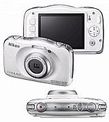 Camera nikon coolpix s33 -10 m   bolsa 32gb classe 10 tripe