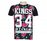 Camisa kings sneakers floral preto