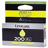 Cartucho lexmark 200xl amarelo pro 4000 4000c 5500t 14l0177