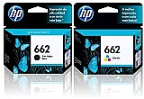 Kit 2 cartuchos hp 662 preto   color p deskjet 2546 original