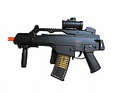 Rifle de airsoft g36c - calibre 6, 0 mm eletrico 110/220v bivolt - heckler & koch