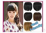 Franja cabelo natural,  humano 15 ctms