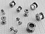 Alargadores niquel 3 (10mm x 12mm),  3 (10mm x 8mm) 1 (10mm x 10mm) e 3 (10mm x 6mm),  roscados