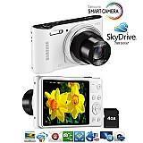 Camera digital samsung wb30f branca wifi 16.2mp top de linha