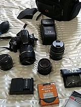 Kit camera profissional sony alpha a55