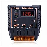 Lancamento controlador lcd carga 20a 12-24v placa solar
