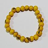 Pulseira masculina feminina unisex com sementes amarelas