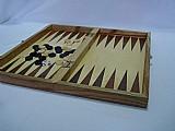 Jogo de xadrez dama e gamao estojo madeira