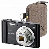 Camera digital sony w800 cyber shot 20.1 mp tela lcd hd